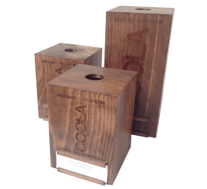 Luxury wooden Cosmetic Packaging case